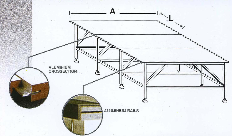 Раскройный стол с изменяемой шириной